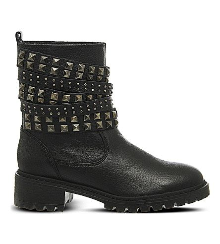 Office  Ignition leather biker boots
