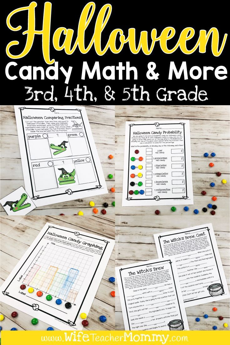 Halloween Candy Math Activities & More for 3rd, 4th, 5th Grade | TpT ...