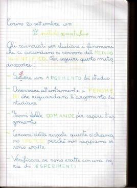Quaderni di scienze - MaestraSabry