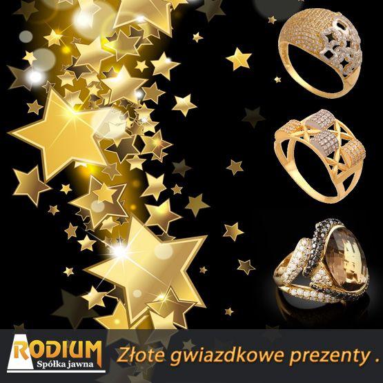 Złote pierścionki idealne na prezent gwiazdkowy.
