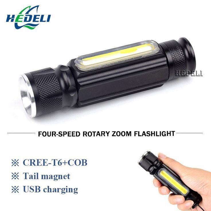 <b>Magnet camping</b> lamp mini usb <b>led</b> flashlight cree xml t6 torch ...