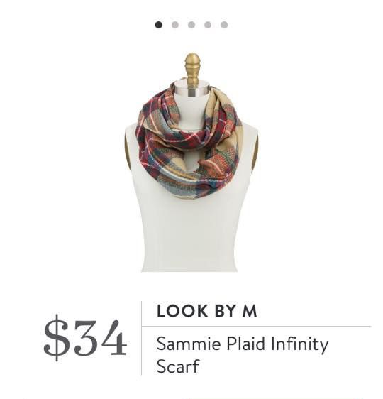 Stitch Fix: Look by M Sammie Plaid Infinity Scarf - love the rich fall colors of this plaid flannel infinity scarf