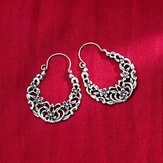 Egyptian Arabesque Sterling Silver Earrings | National Geographic Store