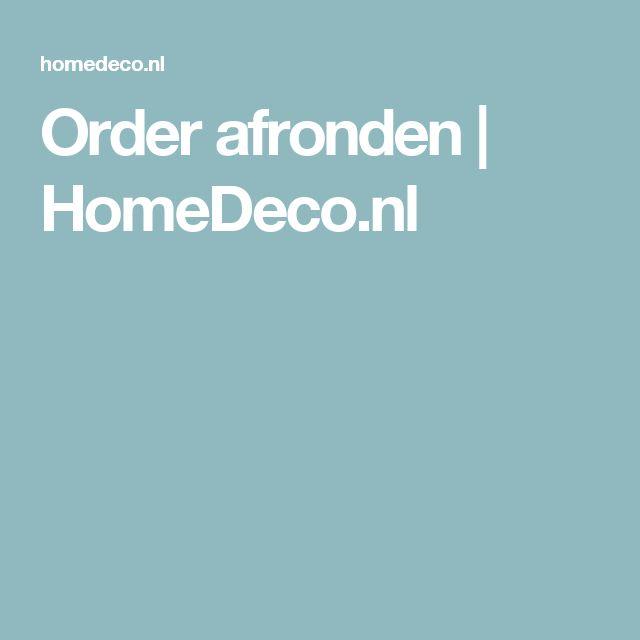 Order afronden | HomeDeco.nl