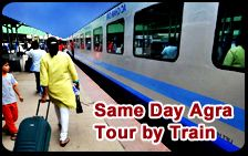 We proffer you Same Day Agra Tour is very interesting by Shatabdi Train. This is very helpful. http://www.pacificindiatour.com/tours/same-day-agra-tour-by-shatabdi-express/