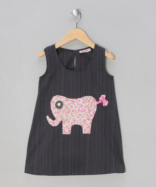 Dark Grey Elephant Dress - Infant, Toddler & Girls from Puffy Pie - up to 50% off on #zulily.co.uk