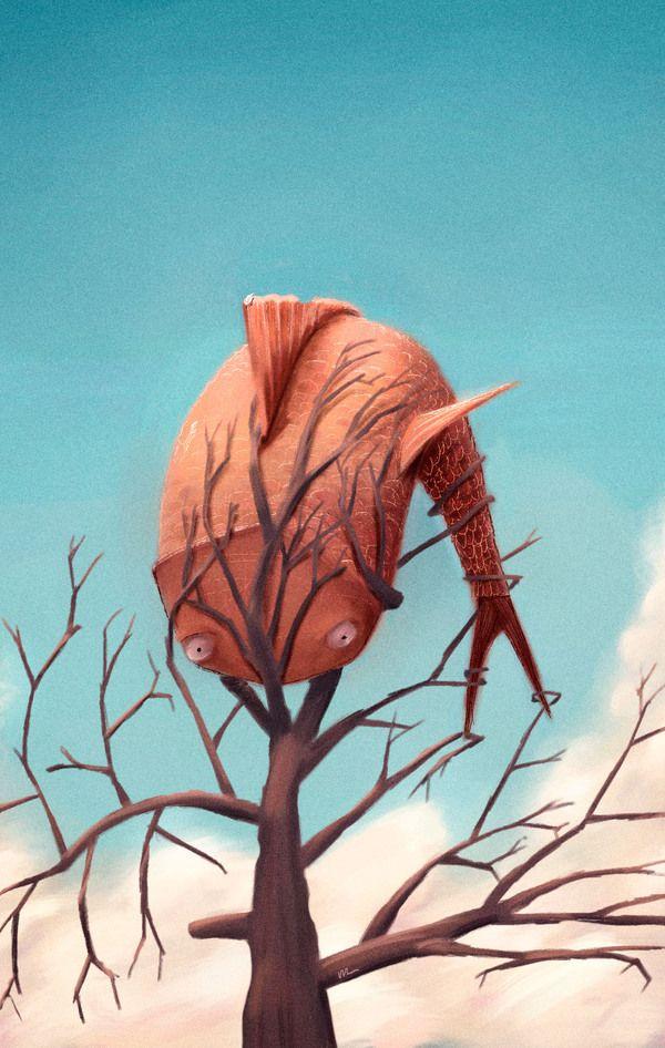 Flying fish trap by Marco Piunti, via Behance