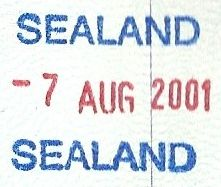 Passport stamp from Sealand Monocletophat123 - Own work