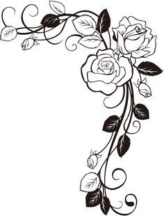 25 trending rose vines ideas on pinterest d rose 6 d rose 1 rose vine drawing google search ccuart Image collections