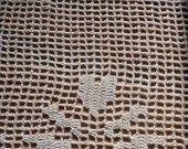 rideau au crochet champ de coeurs : Textiles et tapis par foux-elle sur ALittleMarket