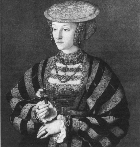 """The """"lost"""" portrait of Anne of Cleves. By Barthel Bruyn, circa 1540."""