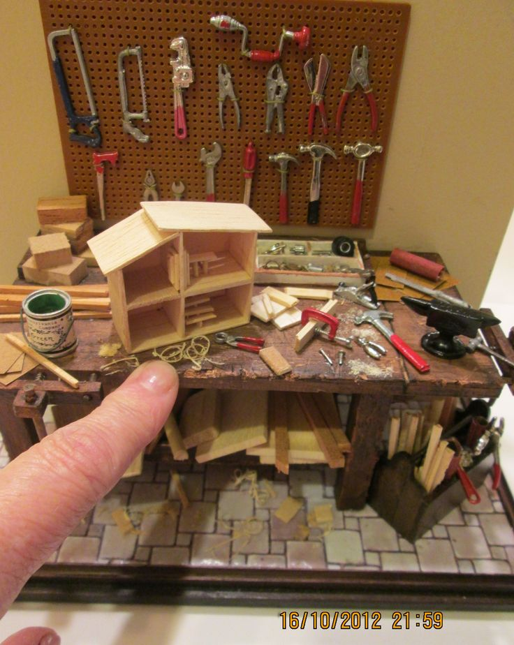 Mini workshop. Someone's making a itty bitty dollhouse!