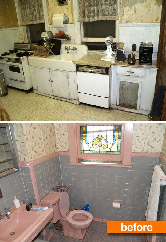 Love the bathroom redo!  Tub inside the shower makes sense in that small space.   Before & After: Updating a Victorian Kitchen (and Bathroom)