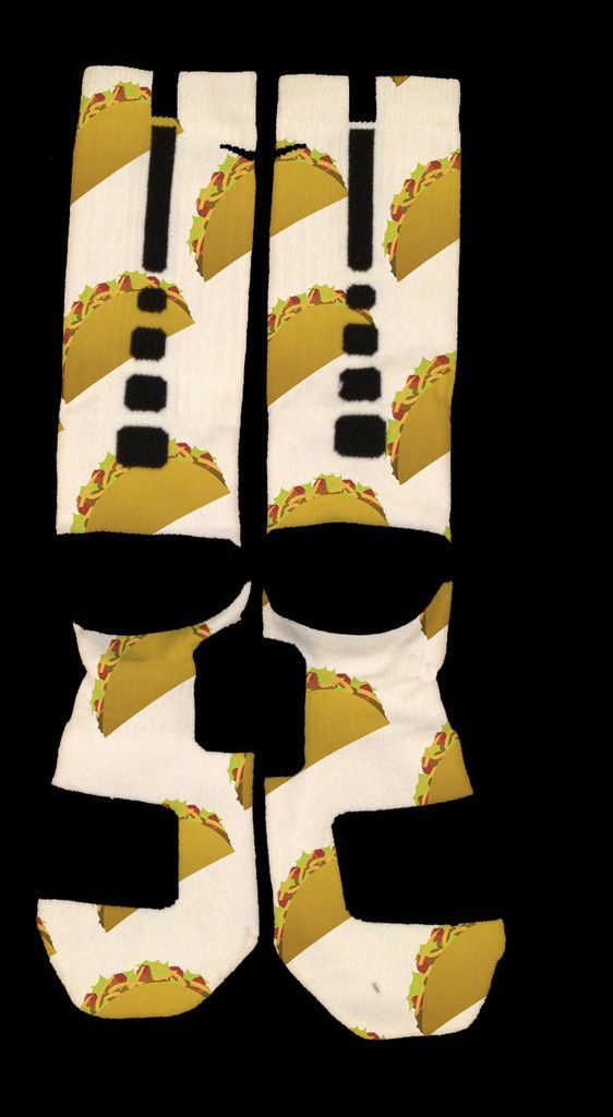 TACOS Elites - Nike Elites | Ok Sock Printed Designer Socks NEED THESE