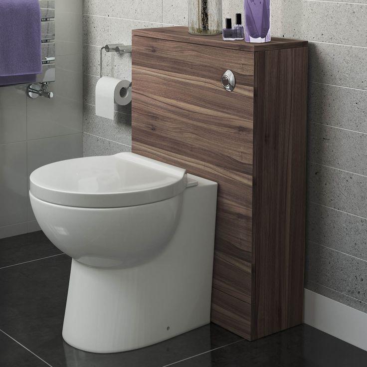 200mm Slimline Back to Wall Toilet Unit with Crosby II Pan Walnut