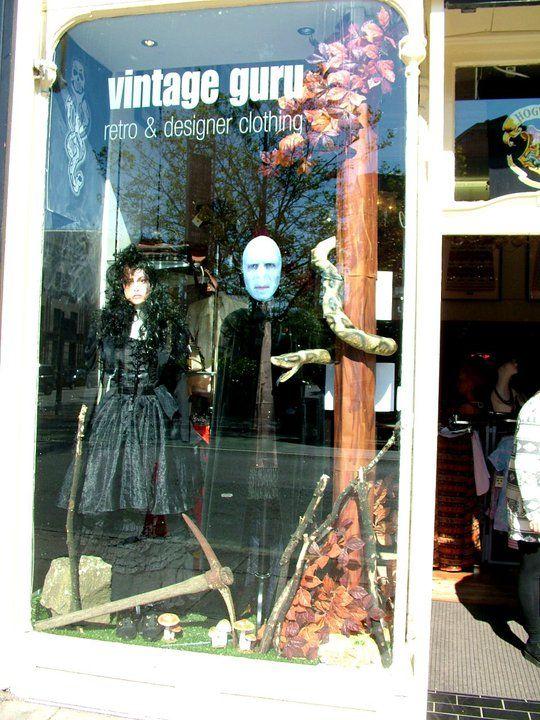Harry Potter windows - The dark side #harrypotter #voldemort #bellatrix #darkmark #nagini #darkside #window display #glasgow #scotland #uk