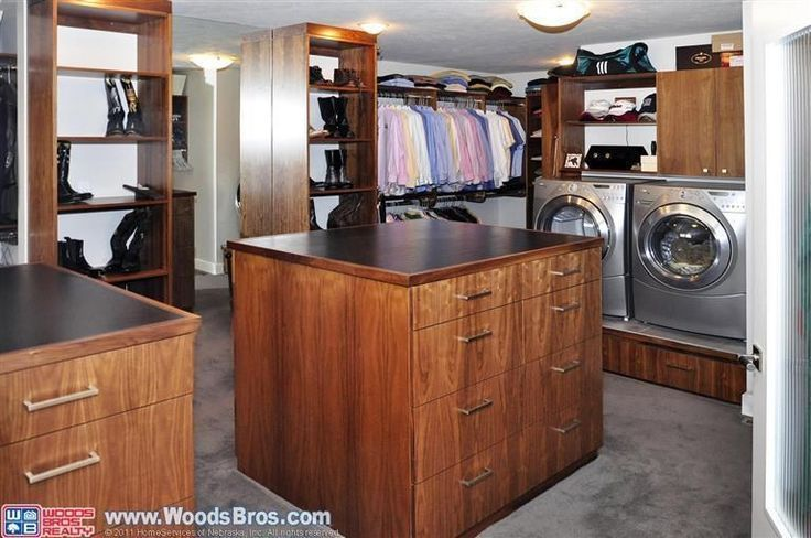 master closet with laundry | laundry in master closet. wow hmm... convenient. | Master Bedroom