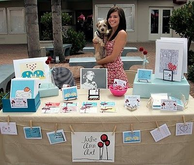 Table Display Ideas jewelry party table display ideas Like The Clothesline Display Craft Show Inspiration