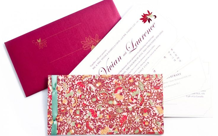 Gold and Red: A modern interpretation of what a luxury Chinese wedding invitation should be. Understated Luxury. www.palettera.ca