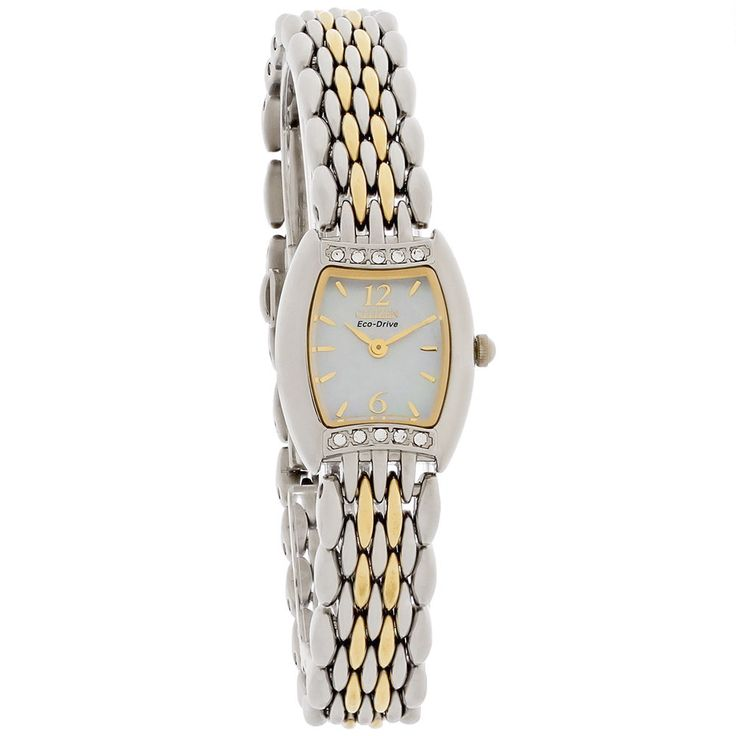 Citizen Eco-Drive Ladies Silhouette Crystal MOP Watch EW8234-52D | eBay
