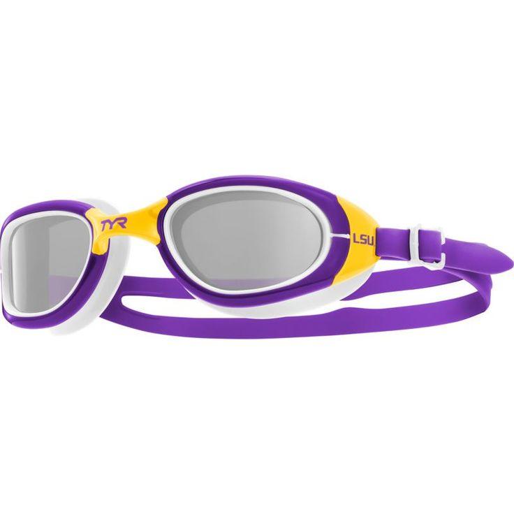 TYR LSU Tigers Special Ops 2.0 Swim Goggles, Purple