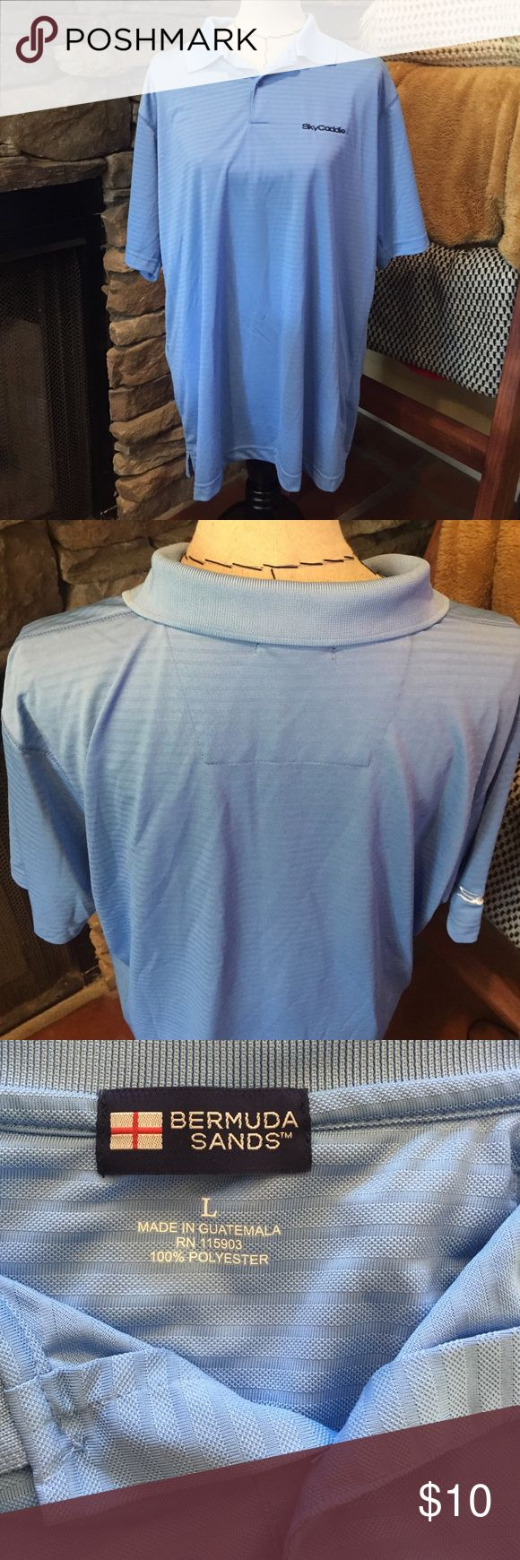 Bermuda Sands gold shirt, size L, great cond.! Bermuda Sands gold shirt, size L, sky caddie, great condition! Bermuda Sands Shirts Polos