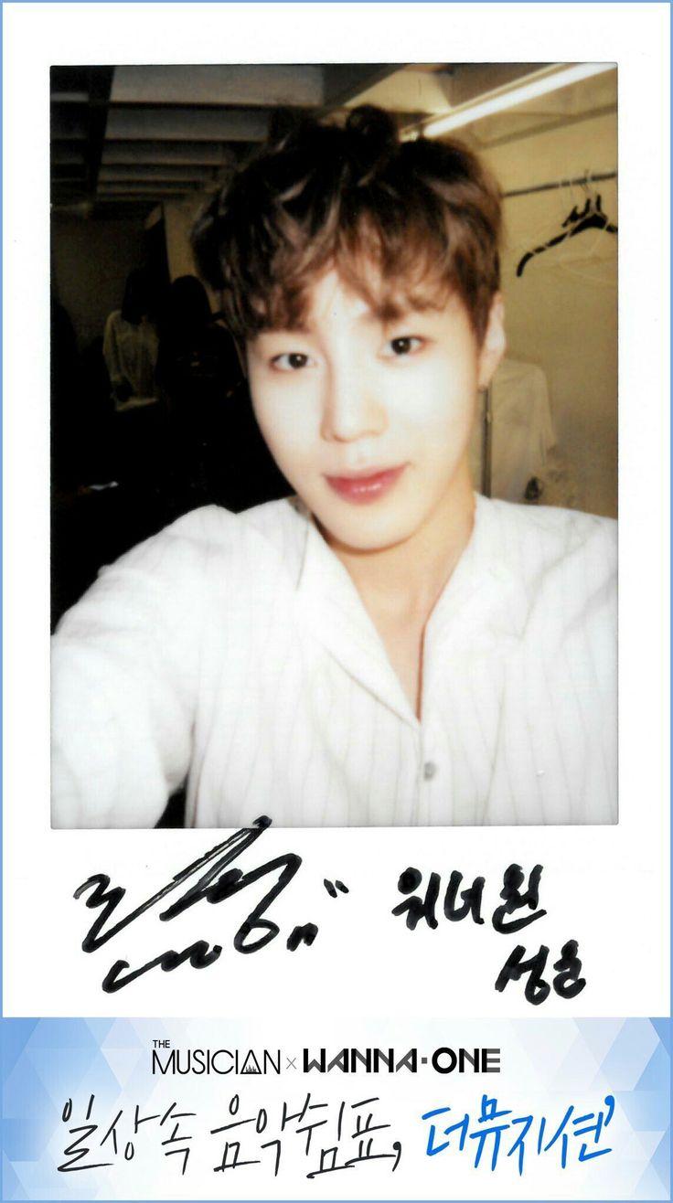 Wanna One x The Musician Polaroids - Ha Sungwoo