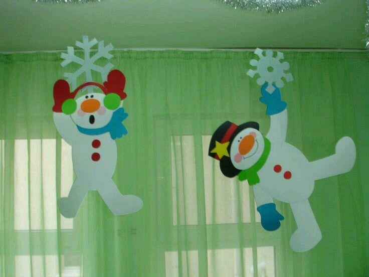 Muñecos de nieve colgantes