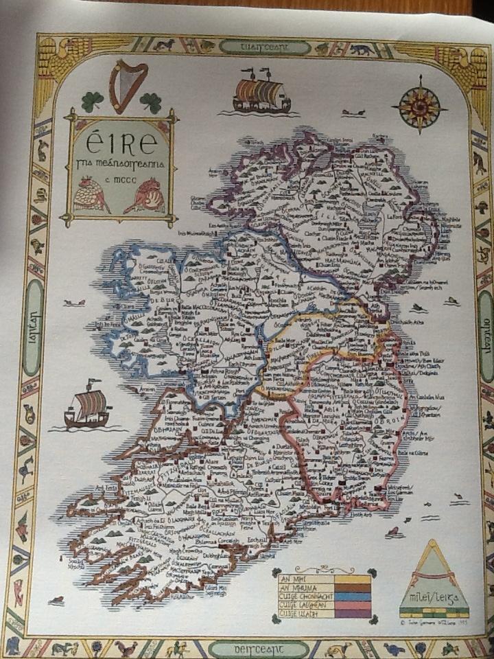 Ireland surnames circa 1300. | Irish Surnames in Maps ...