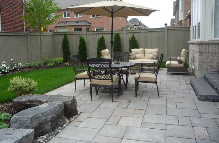 back yard patio Mondrian slab , natural stone steps, armor rocks, garden