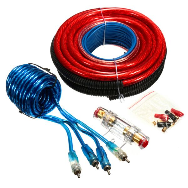 4 Gauge 2800W Power Wire Wring Butt Connector Car Amplifier Installation Kit