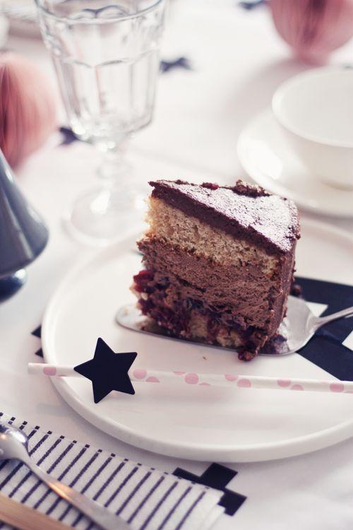 butiksofie: Spekulatius-Schokoladen-Cranberry-Torte, es weihnachtet schon...