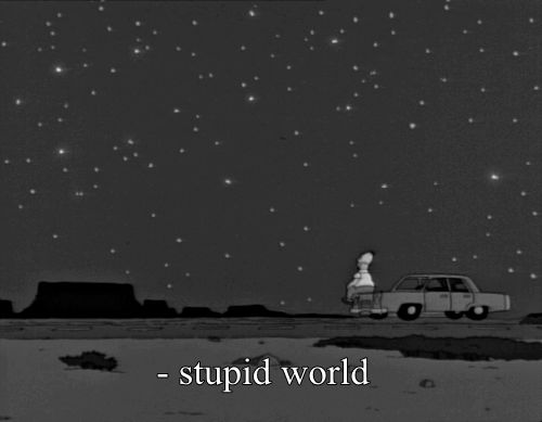 Stupid world #Homer #Simpsons