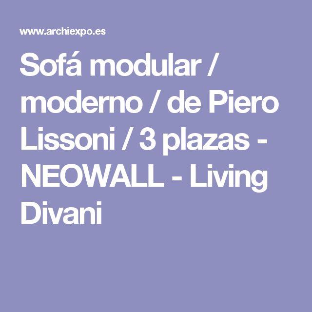 Sofá modular / moderno / de Piero Lissoni / 3 plazas - NEOWALL - Living Divani