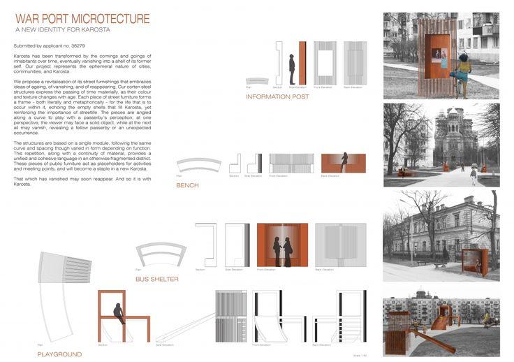 "Architecture competition ""War Port Microtecture"" 3rd prize winner - Alessandra Bragagnini, Caitlin Tobiasz"