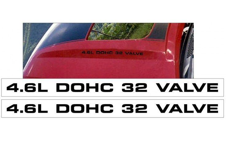2003-04 Mustang Mach 1 Hood Decal Set - 4.6L DOHC 32 VALVE