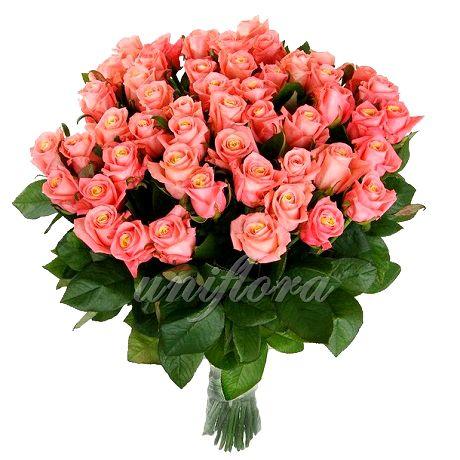 Дарите нежность, самым родным и близким)  http://uniflora.com.ua/bouquet/buket-iz-85-persikovyh-roz-miss-piggi-ukr.html