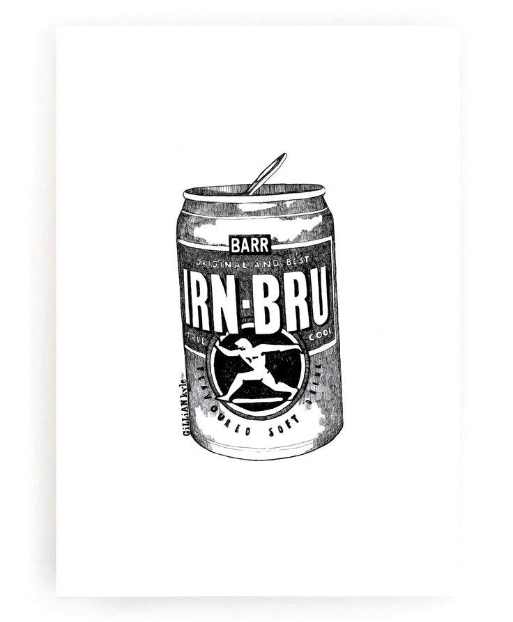 Irn-Bru Monochrome Print