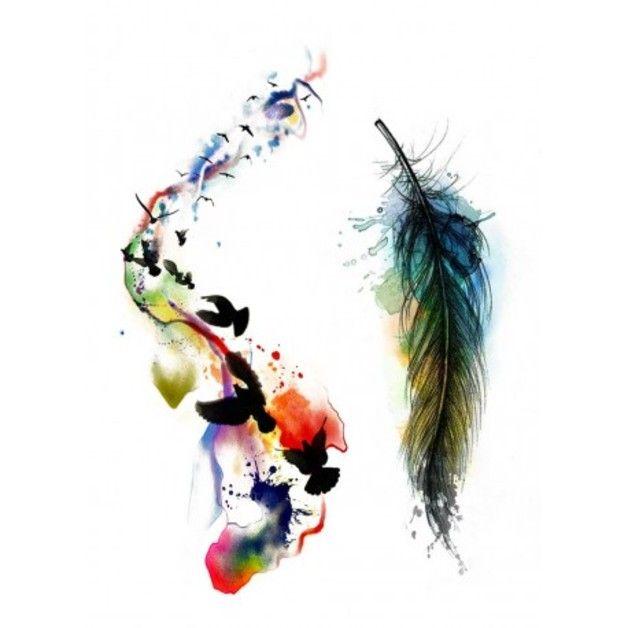 tatouages temporaires oiseaux et plume couleurs produits et technologie et eau. Black Bedroom Furniture Sets. Home Design Ideas