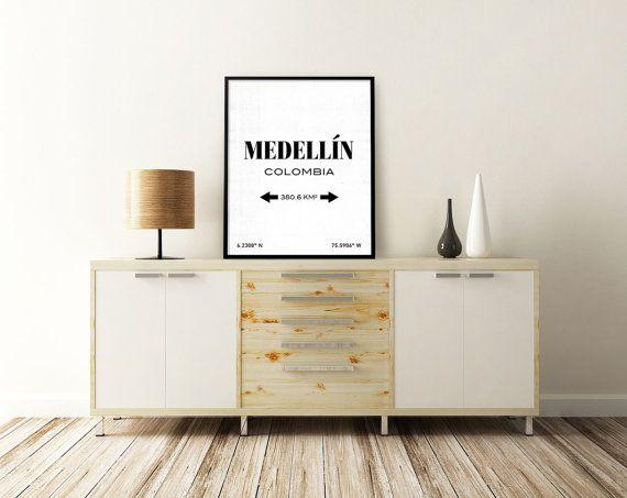 MEDELLIN ART PRINT. Medellin Kolumbien. von SITMPrintables auf Etsy