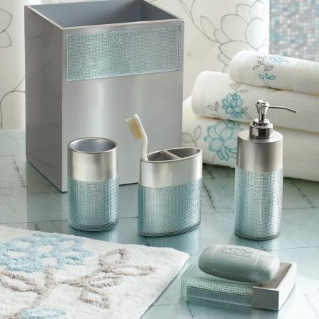 7 best images about update on pinterest blue blue rugs for Blue and grey bathroom sets