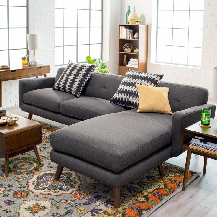 Belham Living Carter 2 Piece Sectional with 2 Accent Pillows | from hayneedle.com