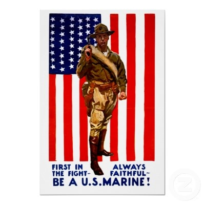 Vintage US Marines World War One Recruiting Print from http://www.zazzle.com/marine+corps+posters