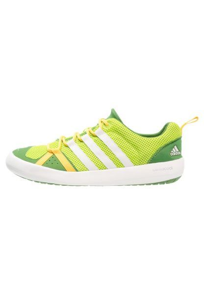 adidas Performance CLIMACOOL BOAT Obuwie do sportów wodnych semi solar slime/chalk white/raw lime