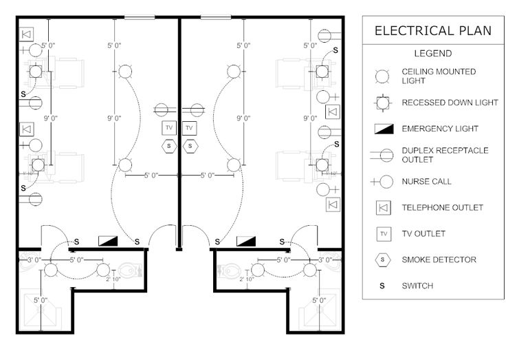 example image  electrical plan