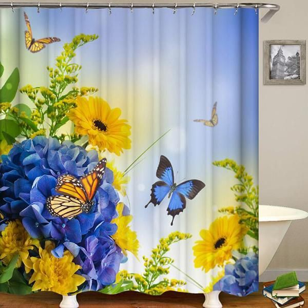 Hot Selling Buy 3 Get 5 Off Code 5off Buy 6 Get 8 Off Code 8off Item Id M1572 Features Material 1 With Images Butterfly Shower Curtain Bathroom Curtains Curtains