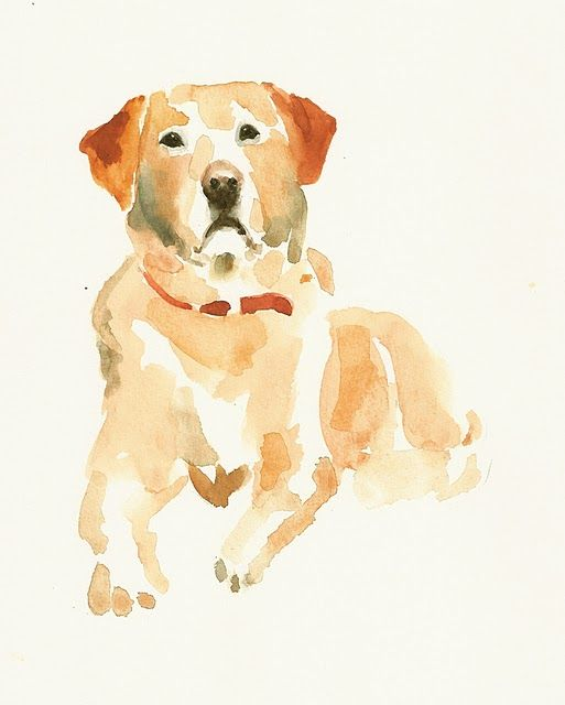 yellow lab in watercolor. Very cool