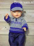 Breikraam, alles over breien en haken, breipatronen en haakpatronen - Breipatroon Babyborn trui met pet