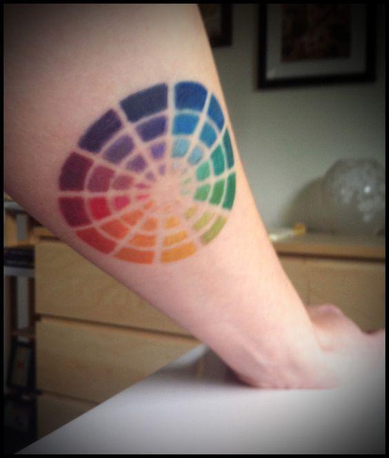 color wheel tattoo: