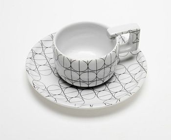SCANDINAVIAN SET - cup - Mopsdesign  Porcelain cup, element of SCANDINAVIAN SET collection